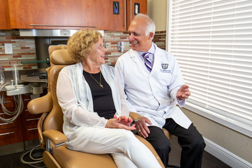 Dr. Lee Sheldon and Patient