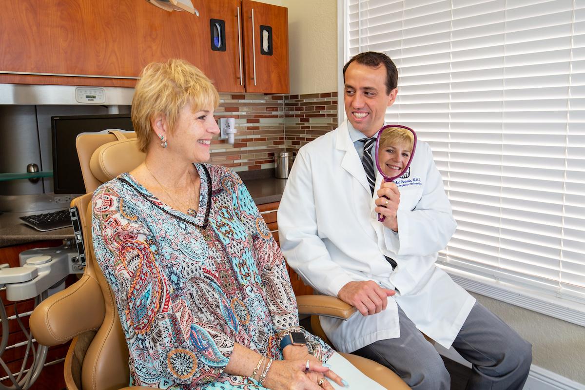 Dr. Matt Sheldon and Patient