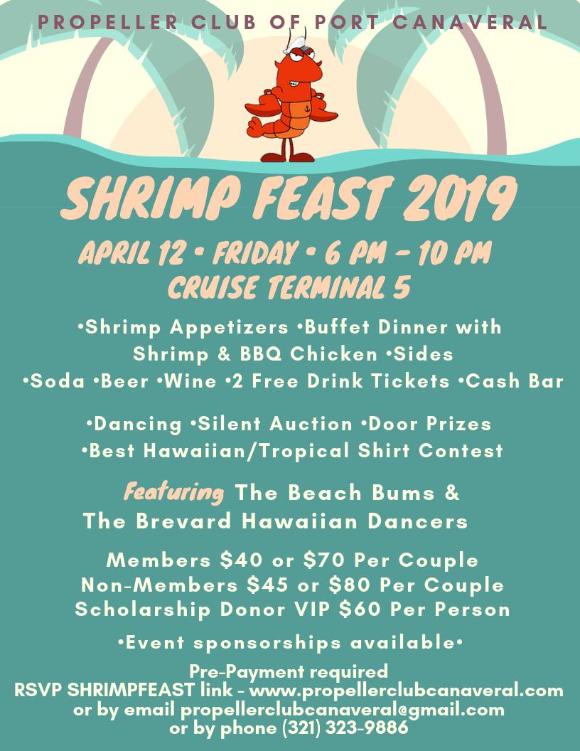 c942813a0ee Shrimp Feast 2019 - Space Coast Living Magazine