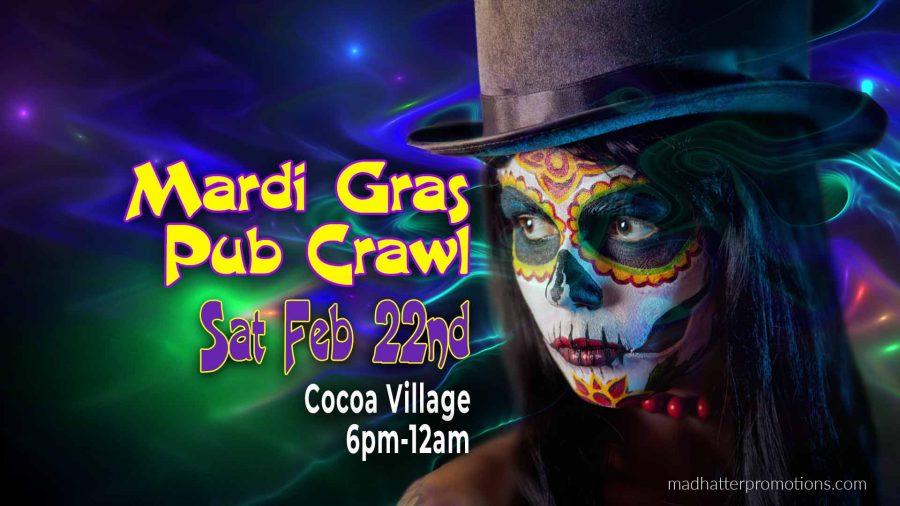 Halloween Space Coast Events 2020 5th Annual Mardi Gras Pub Crawl – Cocoa Village, Saturday