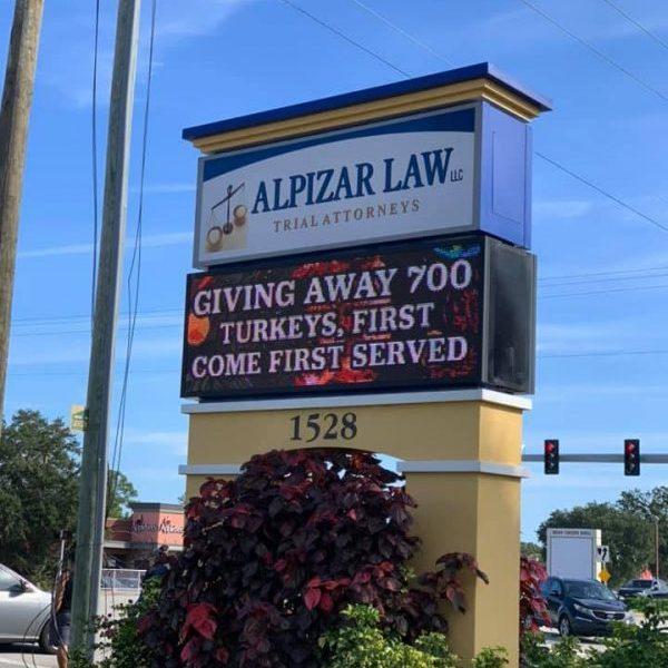 Alpizar Law Turkey Drive
